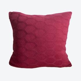 Herdis Cushion Cover in Dark Red