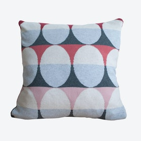 Olivia Cushion Cover in Dark Red