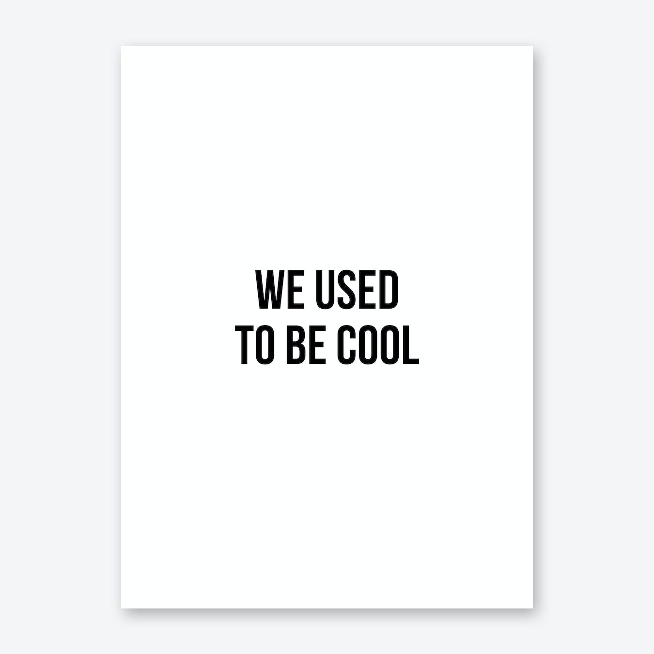 We Used To Be Cool Art Print