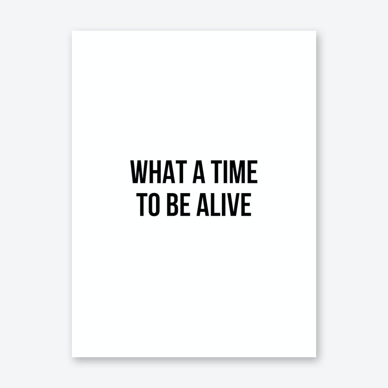 What A Time To Be Alive Art Print