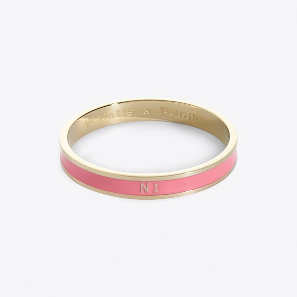 Islington Postcode Bangle In Foliate