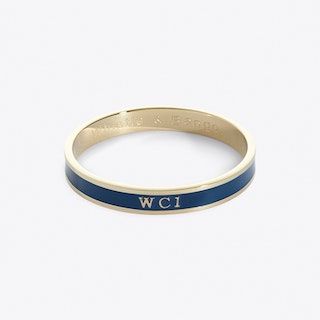 Central London Postcode Bangle In Azure