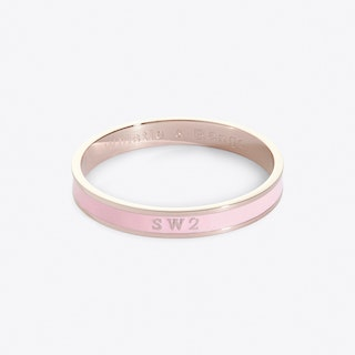 Brixton Postcode Bangle In Roseate