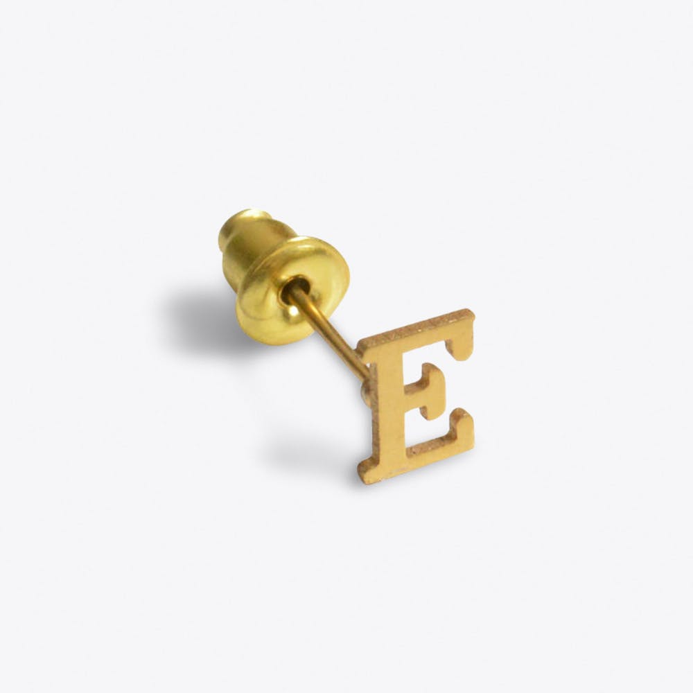 """E"" 18ct Quintessential Single Earring"