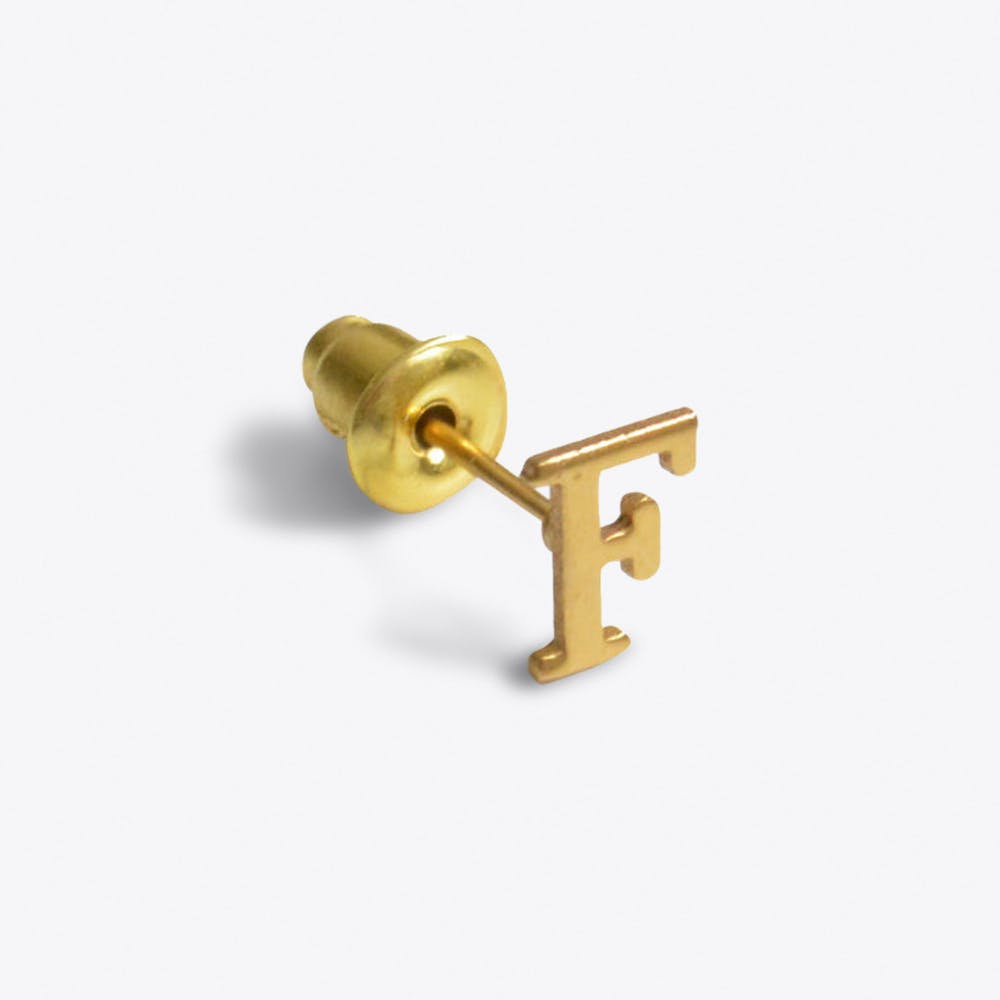 """""""F"""" 18ct Quintessential Single Earring"""