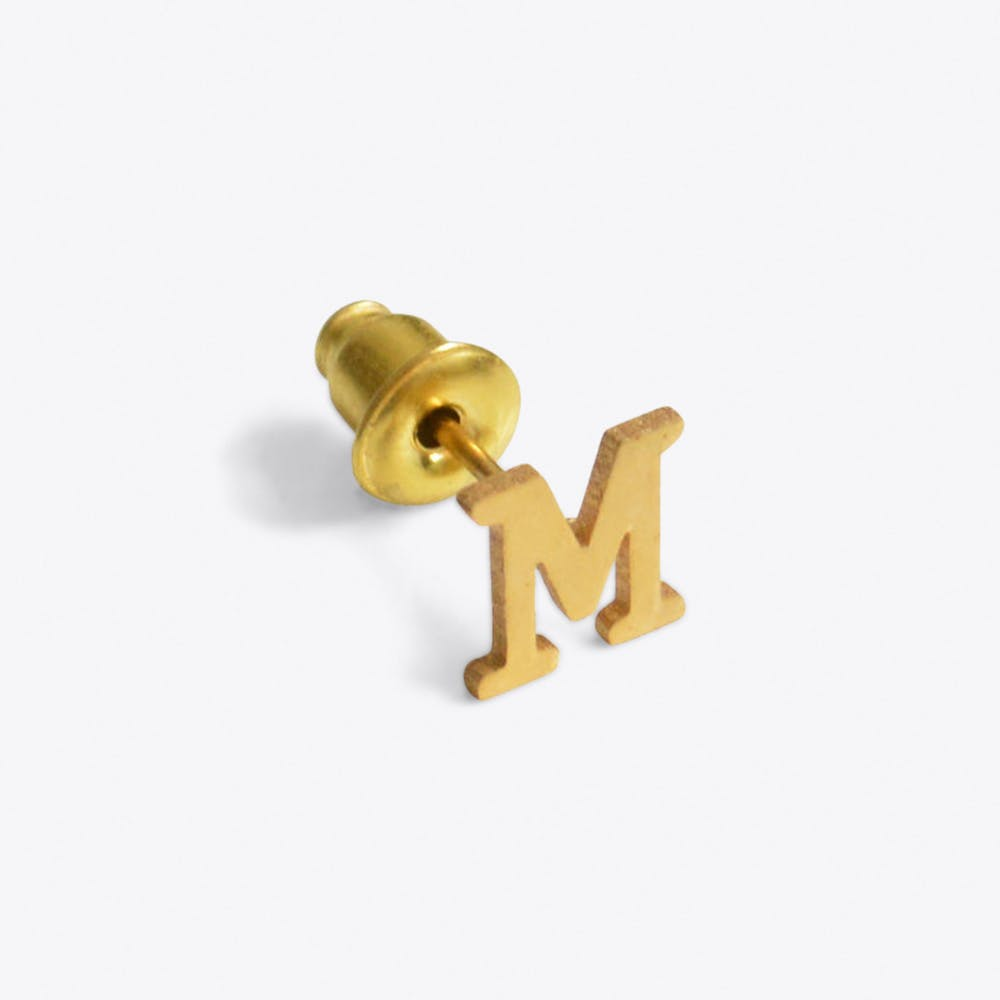 """""""M"""" 18ct Quintessential Single Earring"""