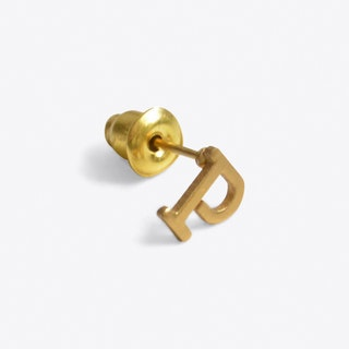 """P"" 18ct Quintessential Single Earring"