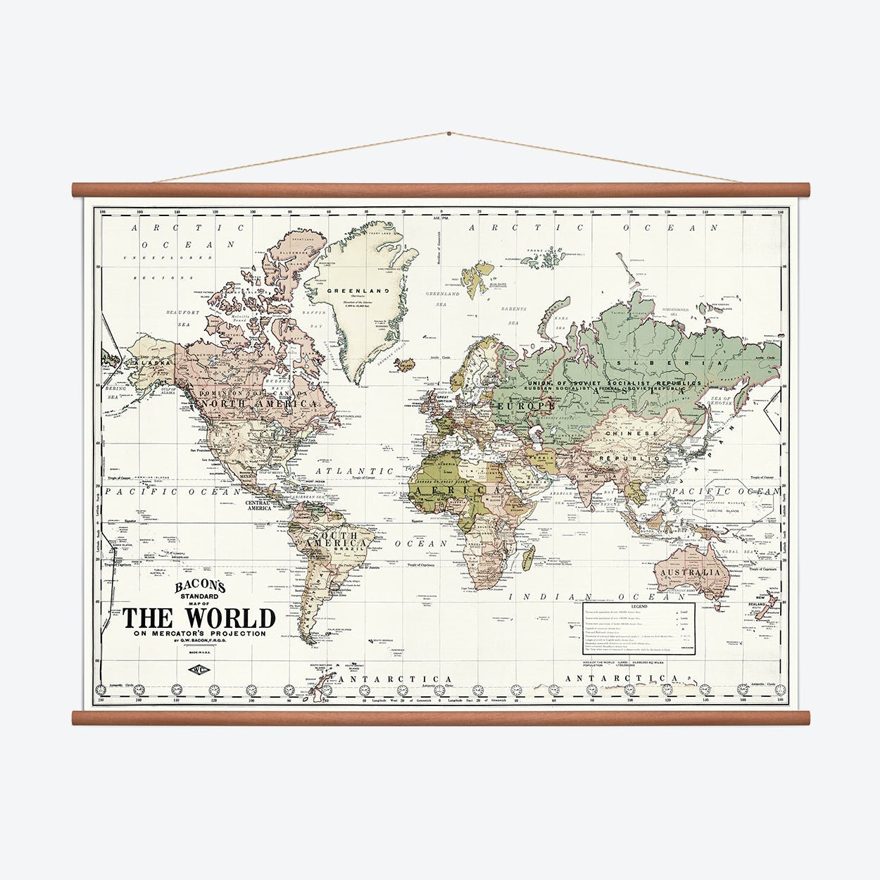 World Wall Map - White