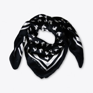 Emma Scarf In Black And White