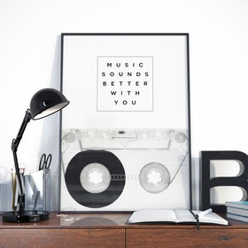 Galaxy Eyes Print Music Sounds Better With You