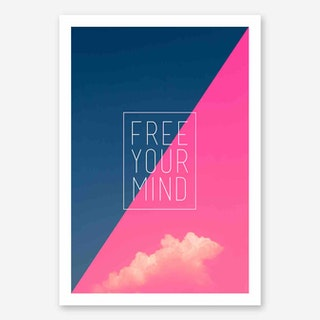 Galaxy Eyes Art Print Free Your Mind