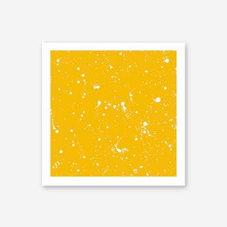 Galaxy Eyes Art Print Livre Yellow