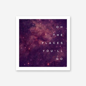 Galaxy Eyes Art Print Places Youll Go I