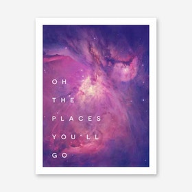 Galaxy Eyes Art Print Places Youll Go II