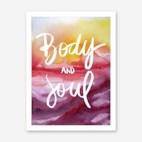 Galaxy Eyes Art Print Body And Soul