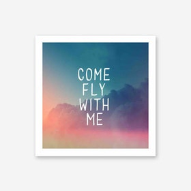 Galaxy Eyes Art Print Come Fly With Me