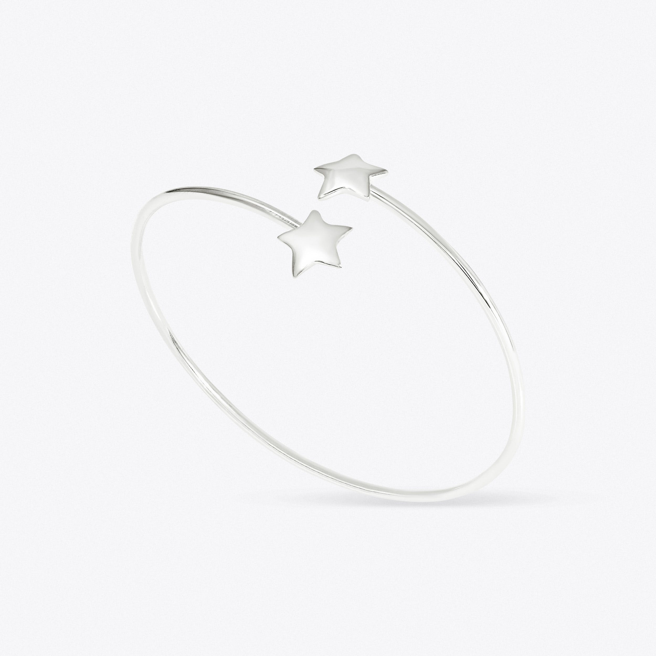 Spirit Star Bangle In Silver