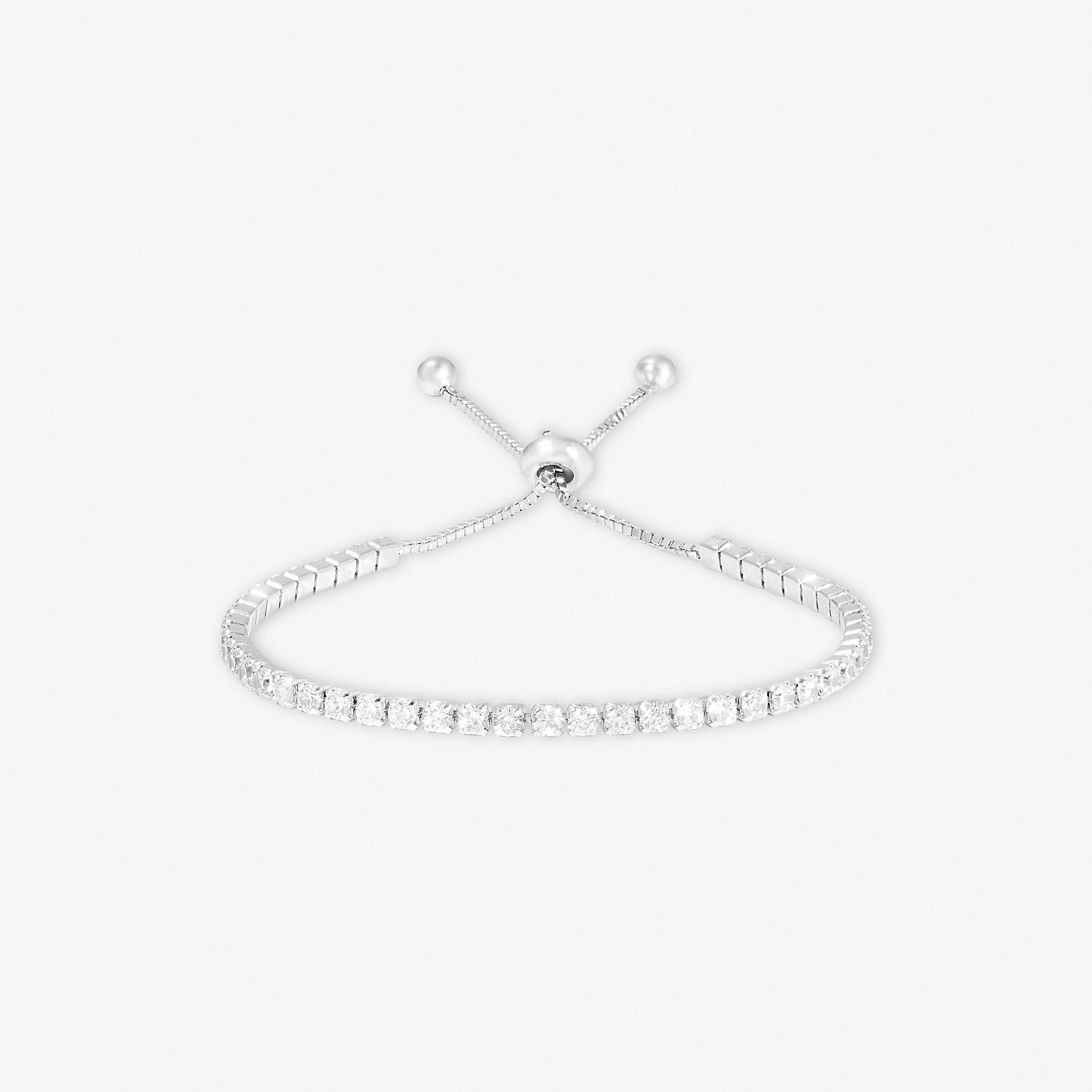 Sparkle Toggle Tennis Bracelet In Silver