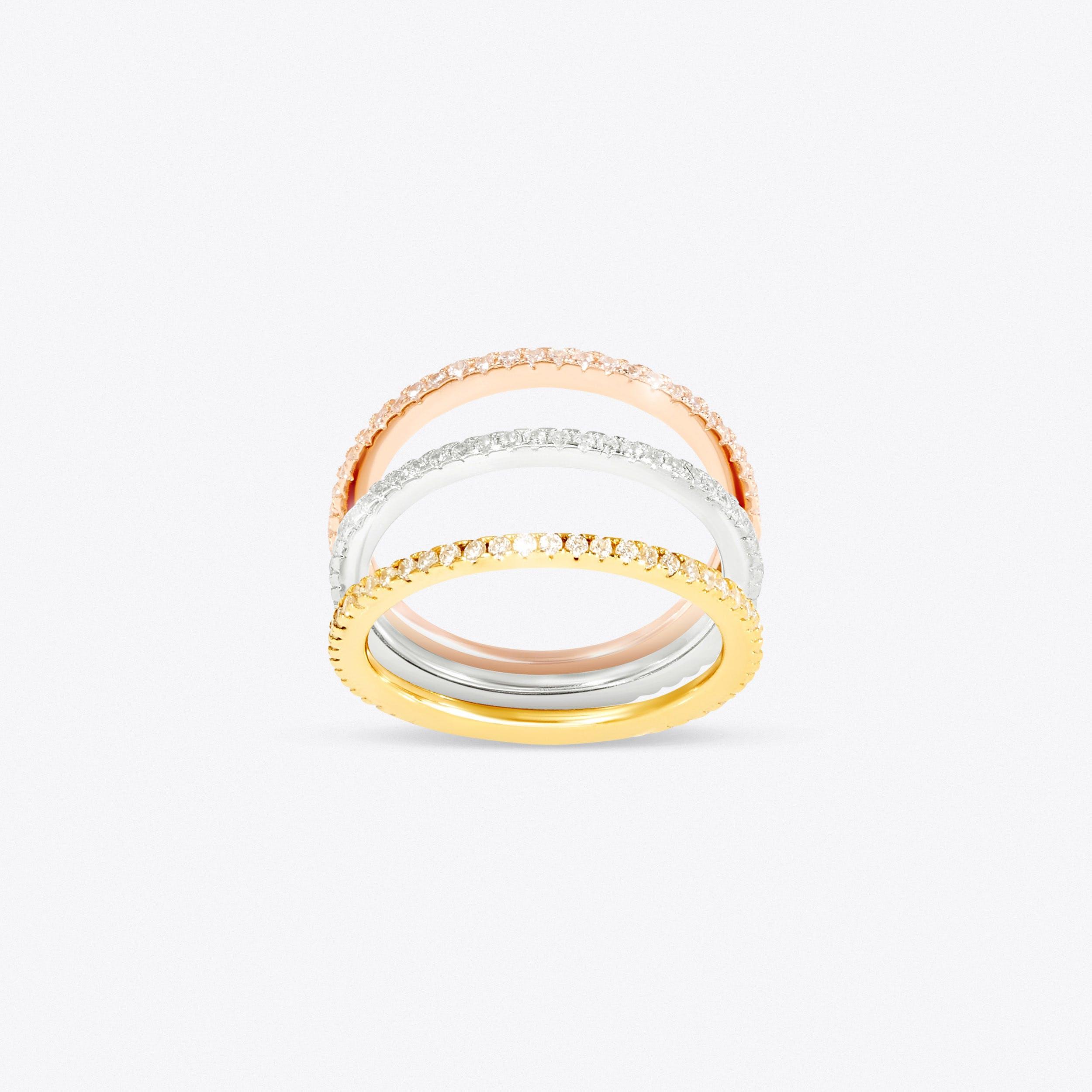 Sparkle Stacking Ring Set