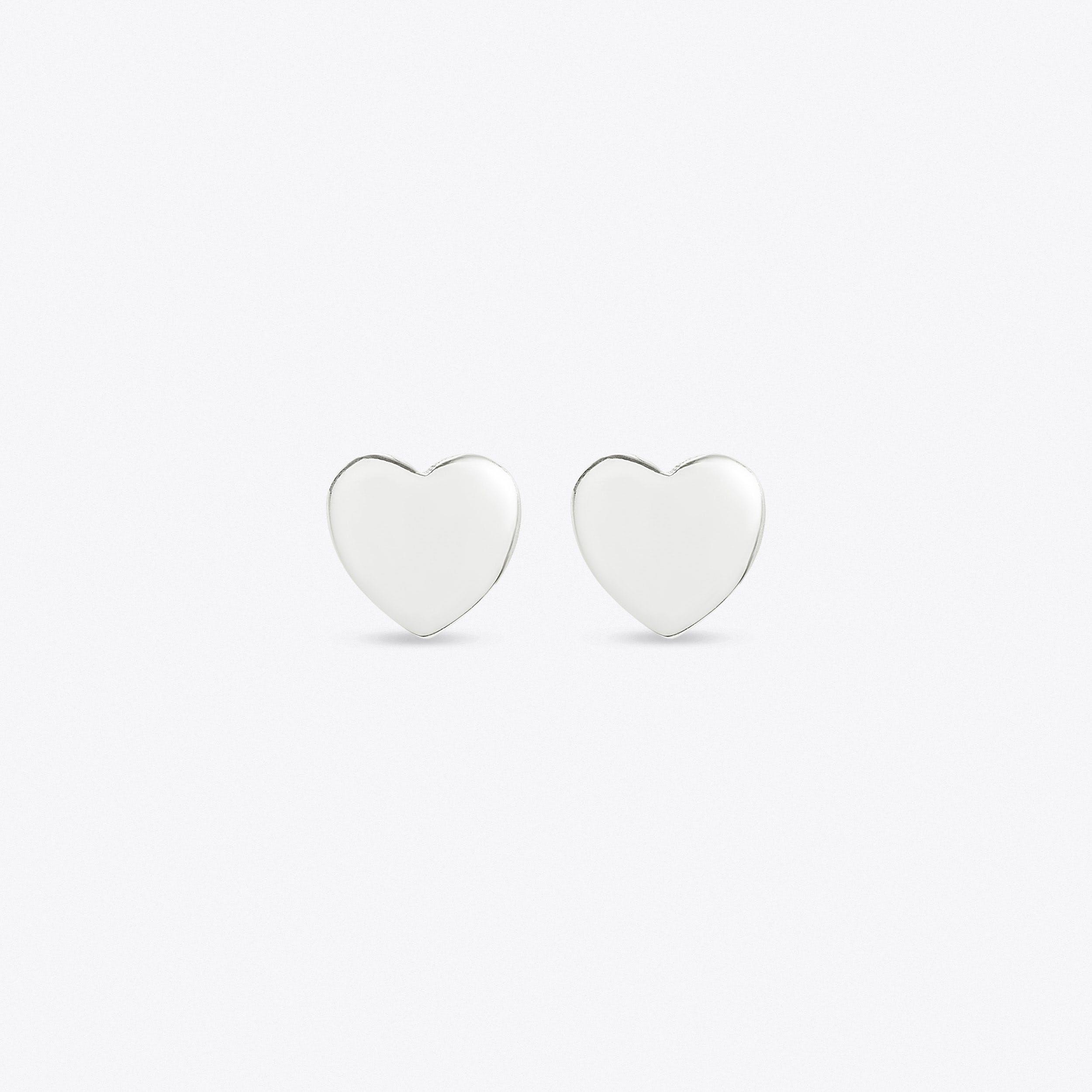 Spirit Heart Earrings In Silver