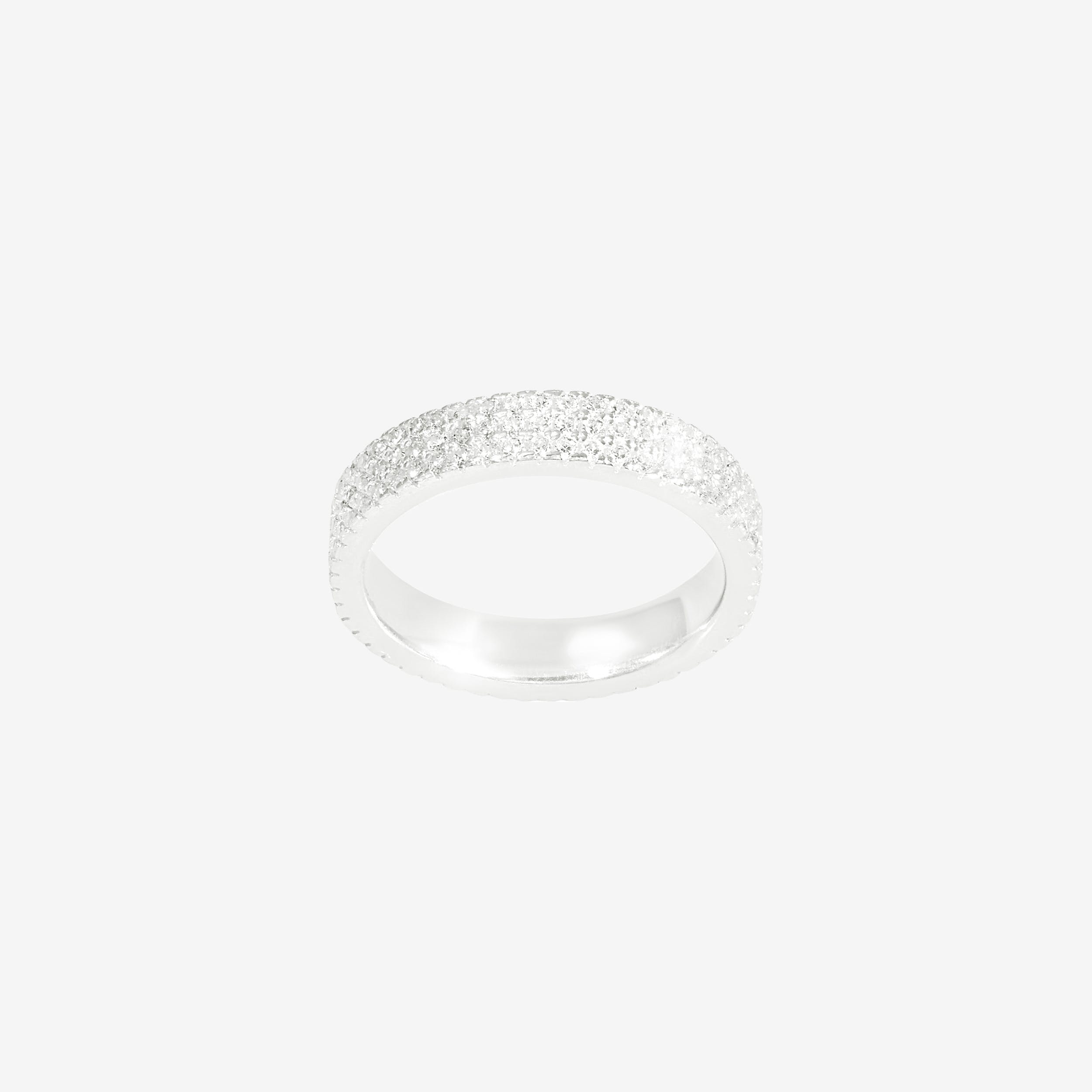 SparkleTriple Band Ring In Silver