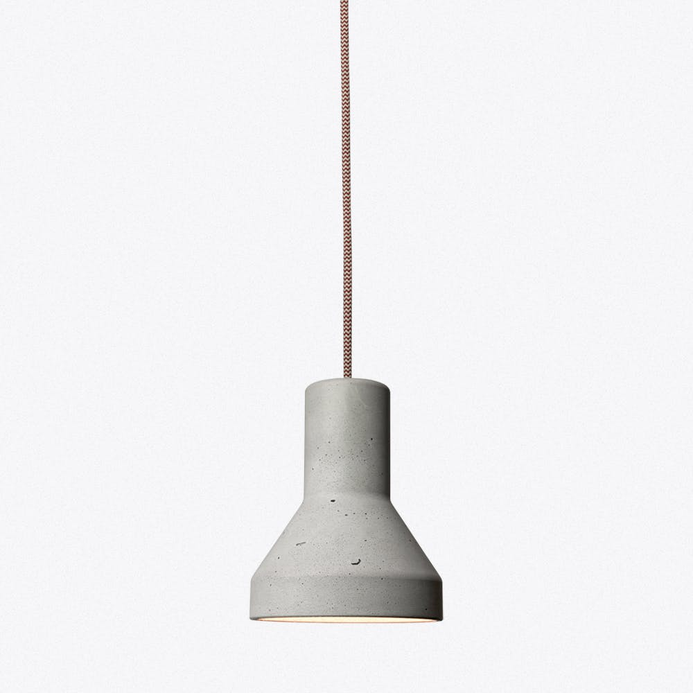 Concrete Lamp No.2 In Red And White