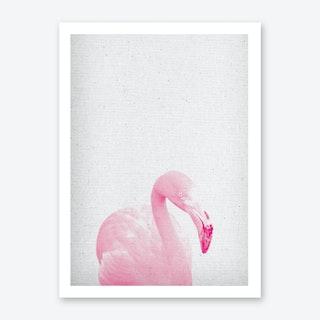 Froilein Flamingo III Art Print