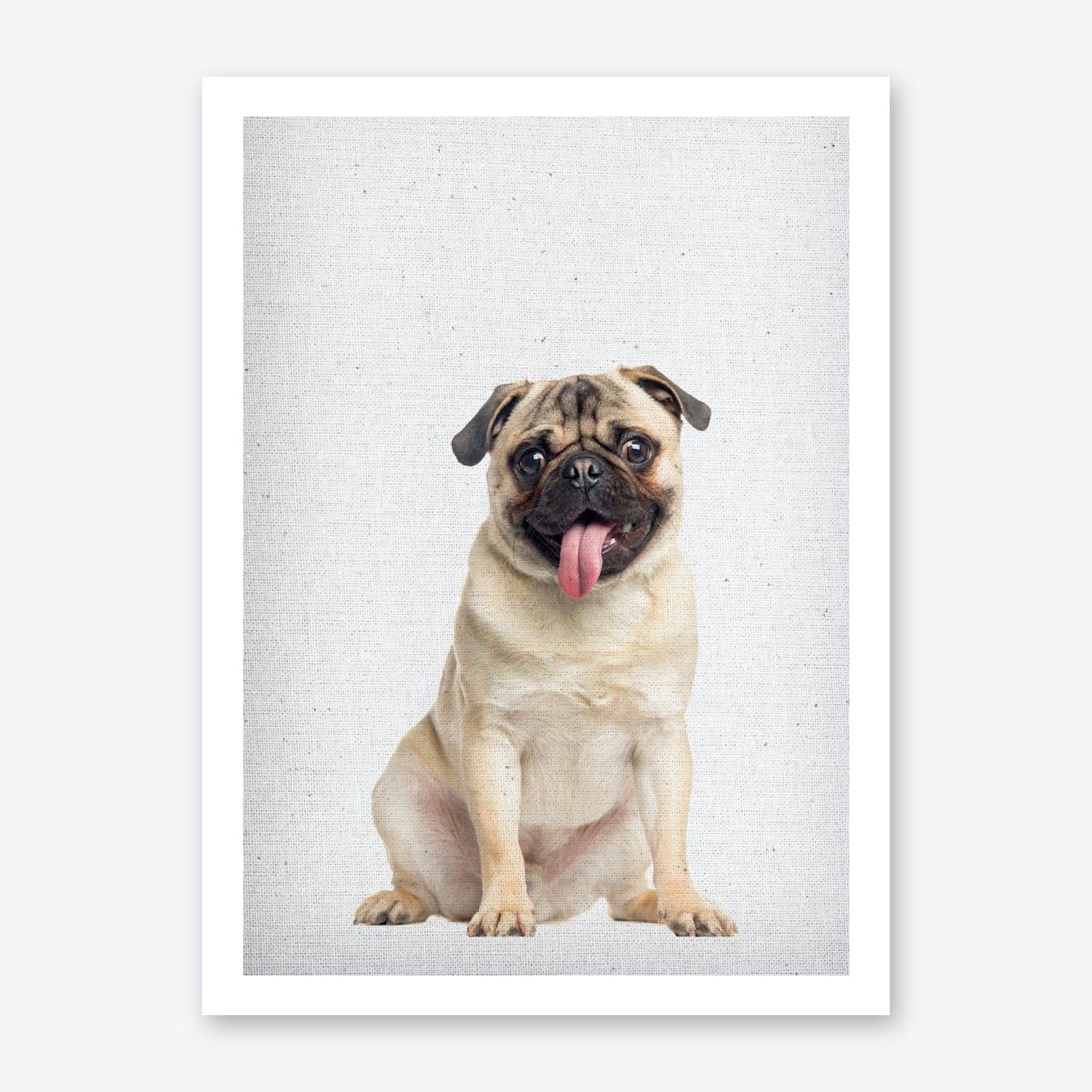 Mops I Art Print