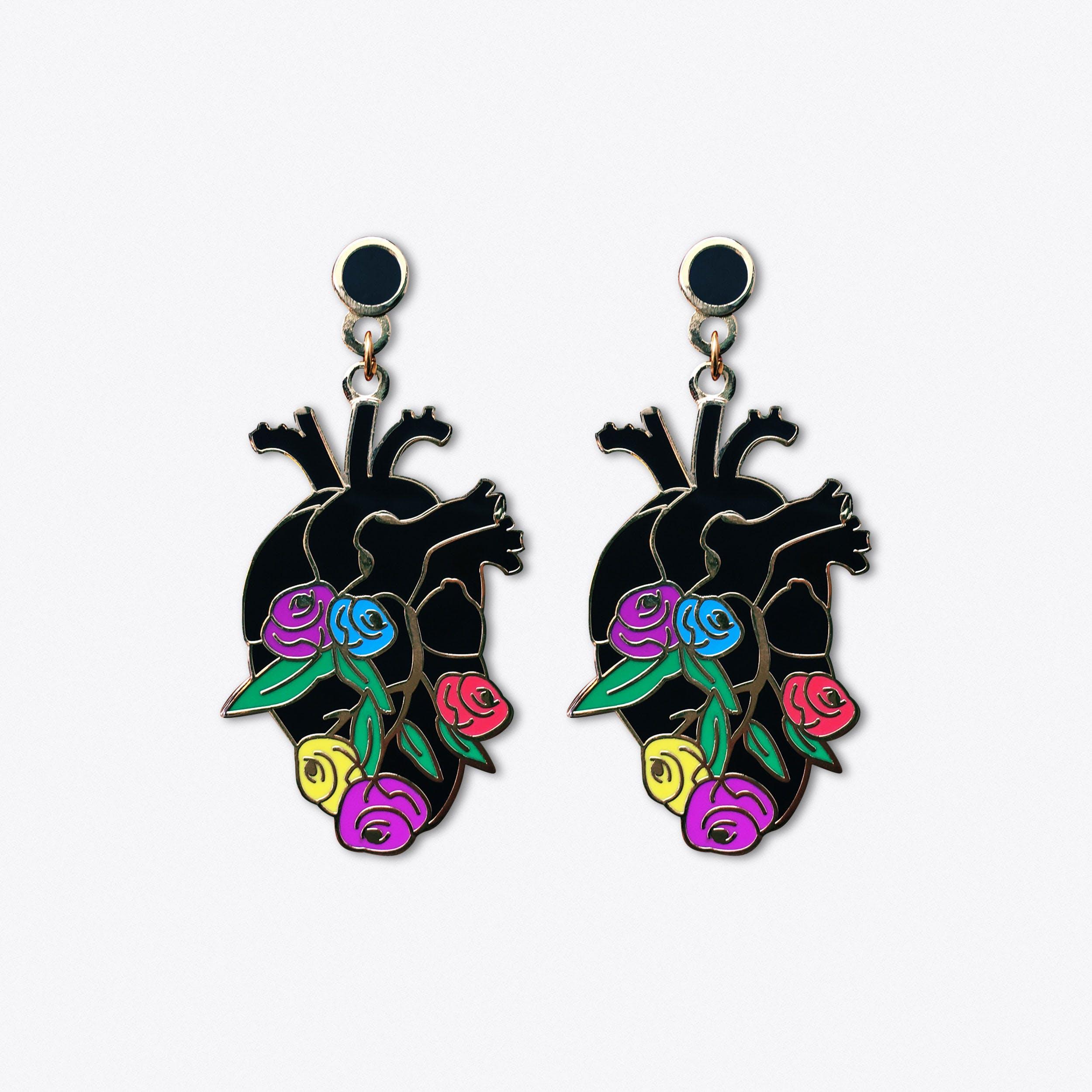 Anatomy Bloom Heart Earrings