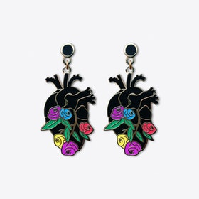 Anatomy Bloom Heart Earrings