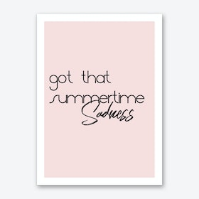 Summertime Sadness Art Print