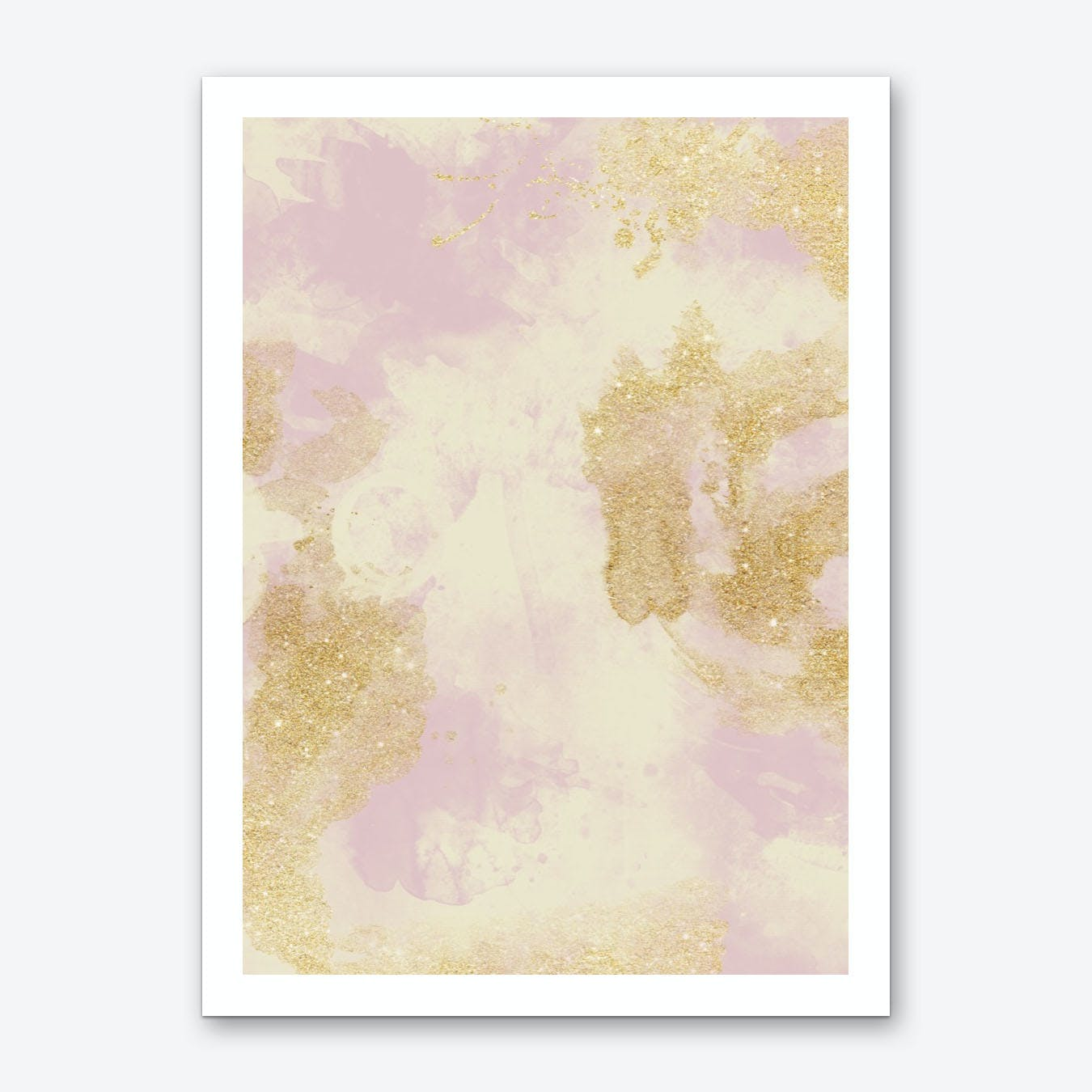 Marble Glitter Shadow Art Print