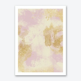 Marble Glitter Shadow Art Print