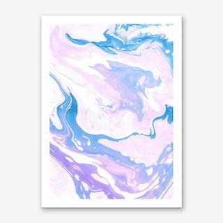 Violets and Cream Art Print