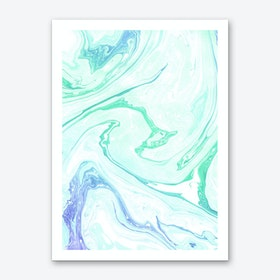 Green Apple and Cream Art Print