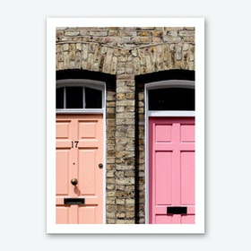 Pastel Doors Art Print