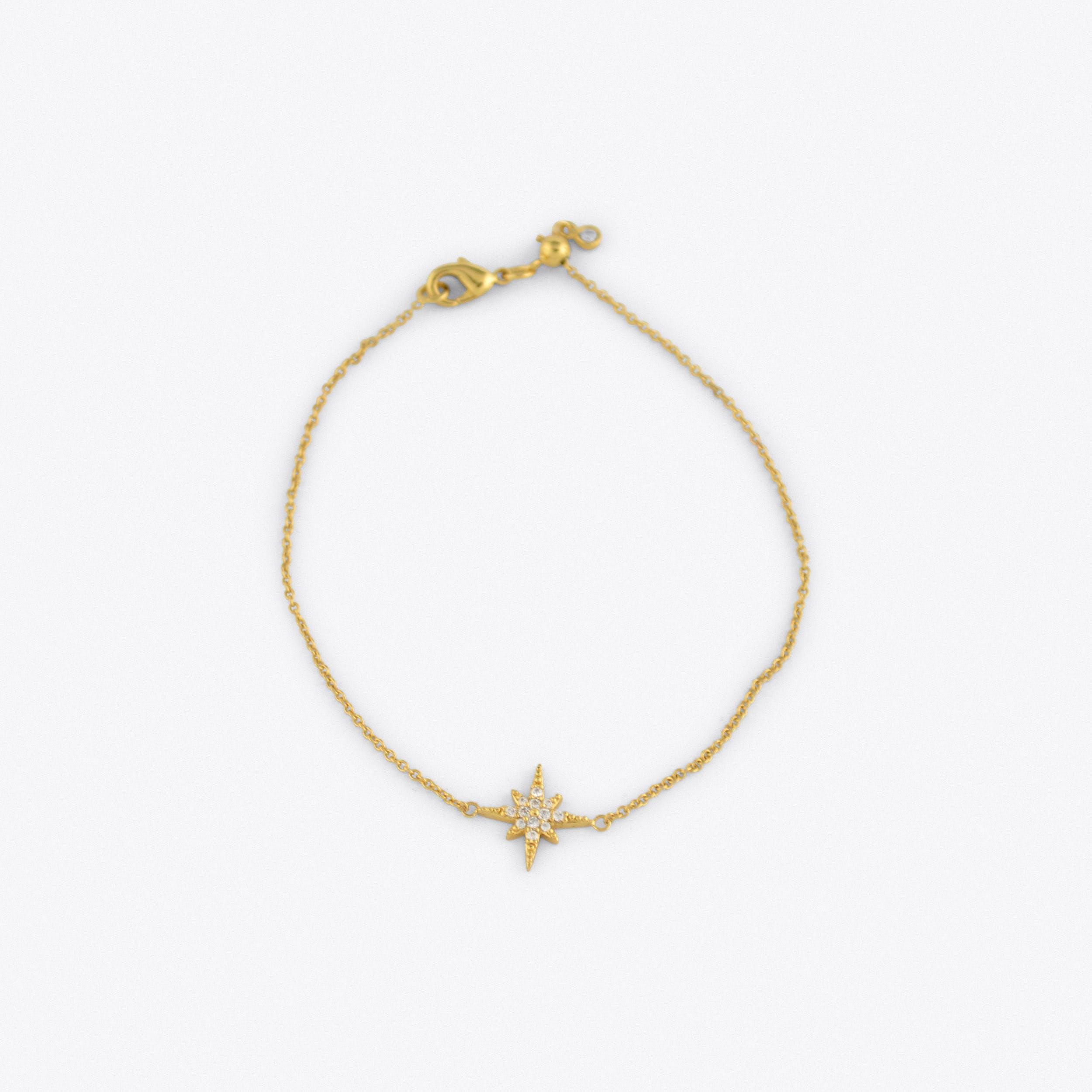 Starburst Bracelet with Slider Clasp in Gold