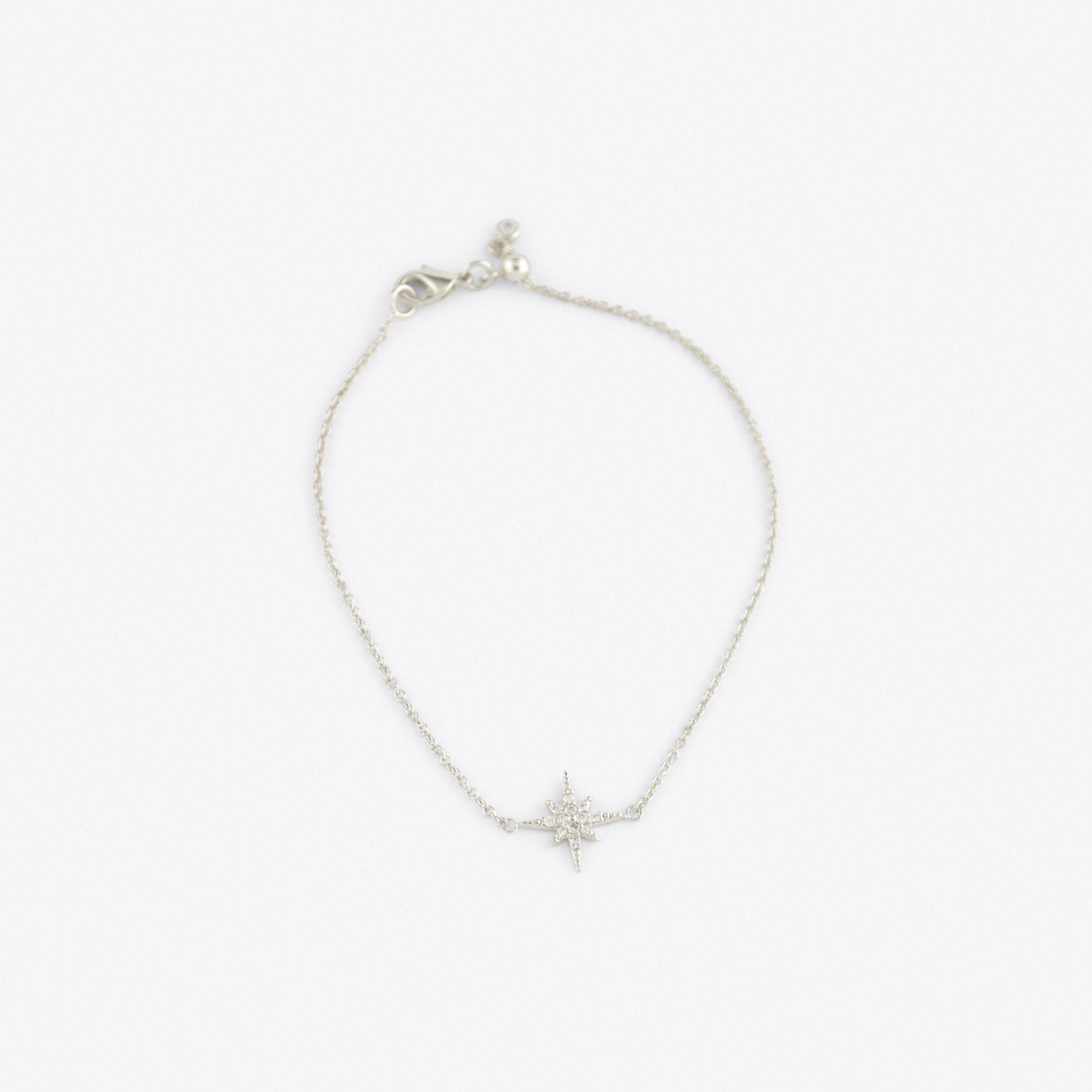 Starburst Bracelet with Slider Clasp in Silver