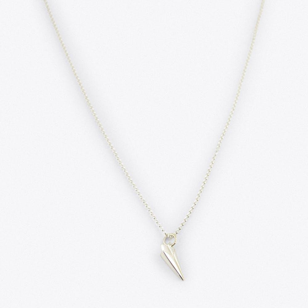 Silver Paper Plane Charm Necklace
