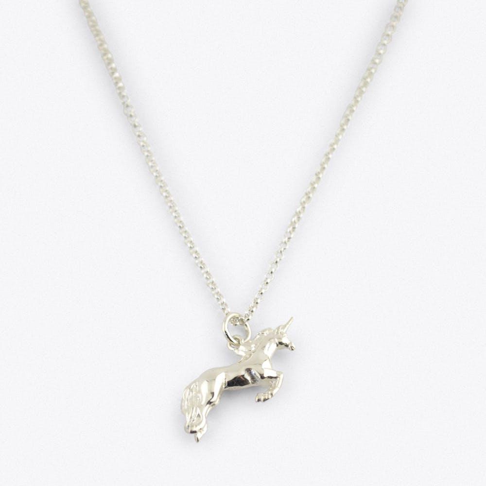 SIlver Unicorn Charm Necklace