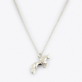 SIlver Unicorn Charm Necklace