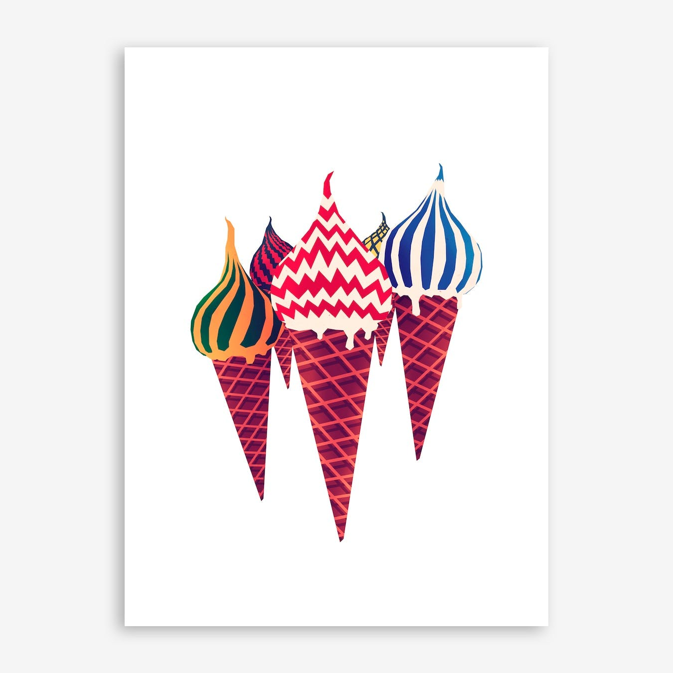 Summer In Moscow Print