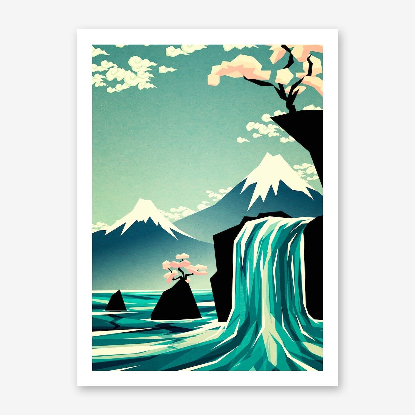 Waterfall Blossom Dream Print