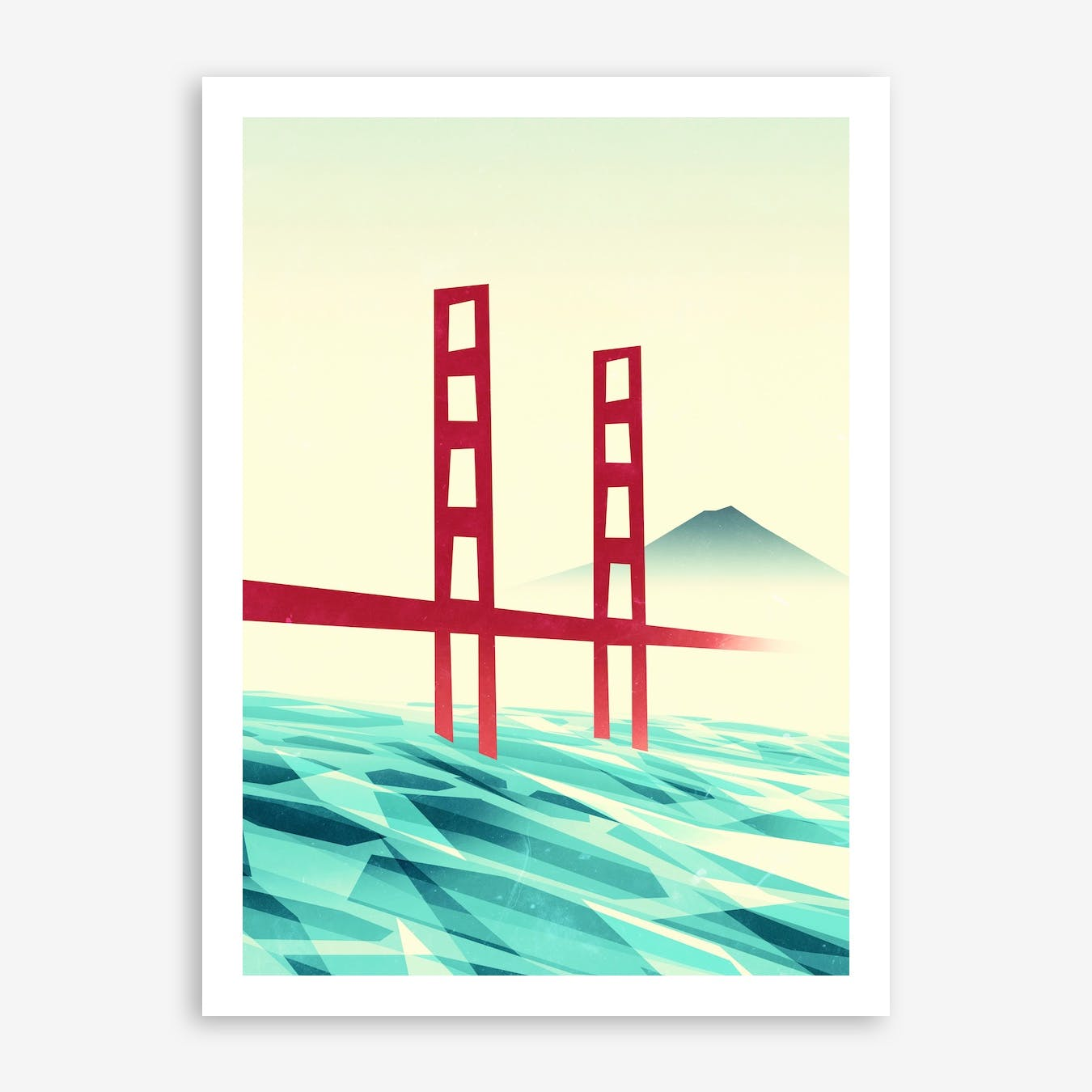 Misty Day At The Golden Gate Print