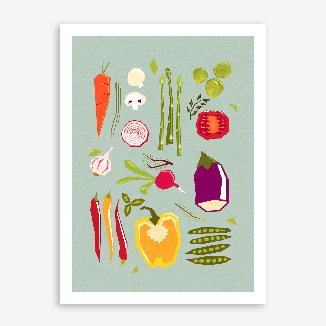My Favorite Veggies Print