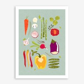 My Favorite Veggies Art Print