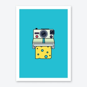 Say Cheese in Blue Art Print