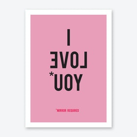 I Love You in Pink Art Print