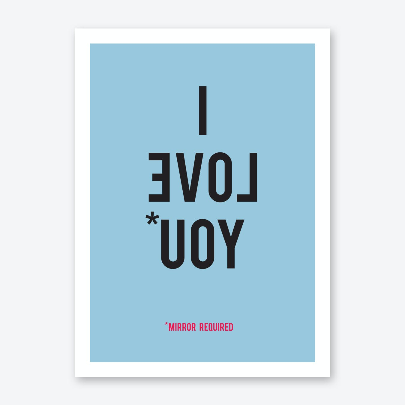 I Love You in Blue Art Print