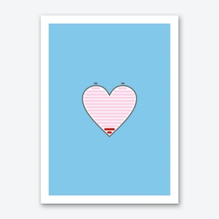 All Out Of Love Blue Art Print